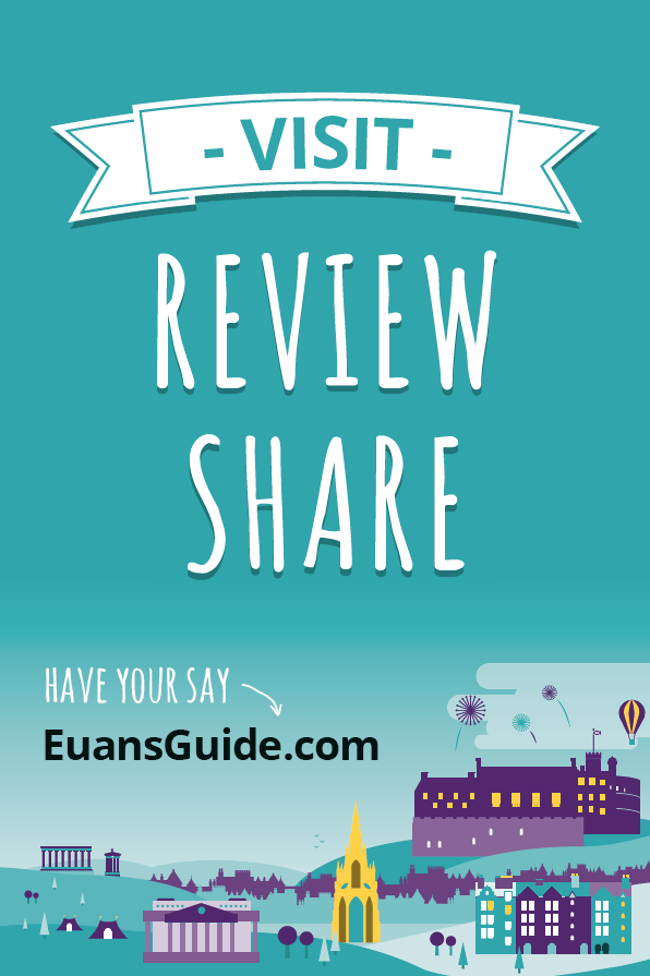 A poster asking people to review on Euan's Guide.