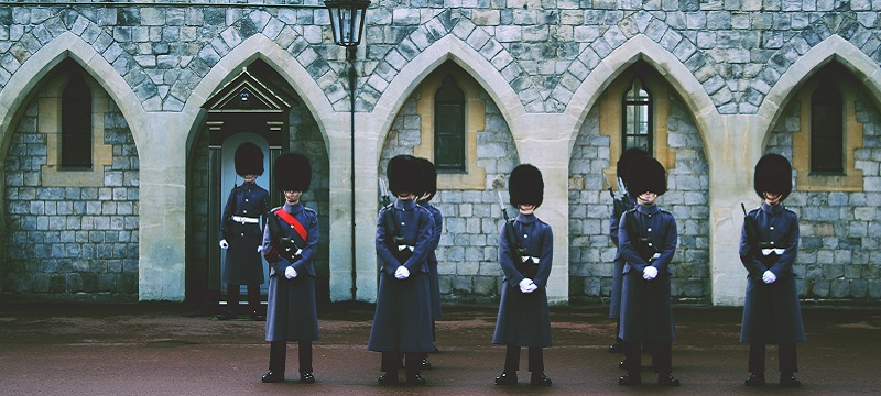 Photo of the changing of the guards.
