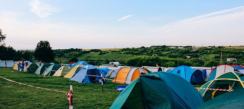 Photo of a campsite.