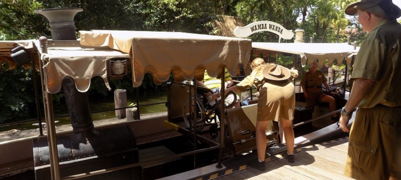 Photo of Neil accessing the Jungle Cruise.