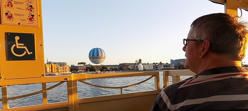 Photo of Neil on the Water Taxi.