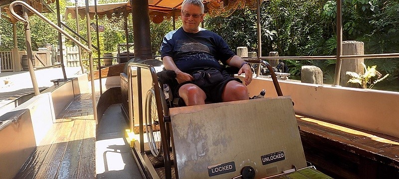 Photo of Neil on the Jungle Cruise.