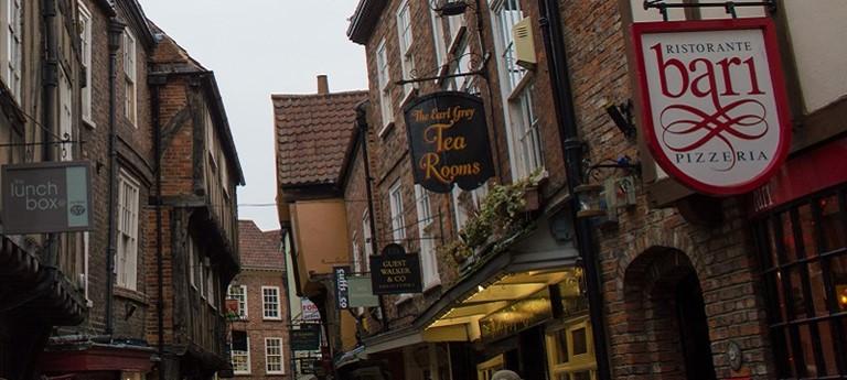 Photo of York shopping street.