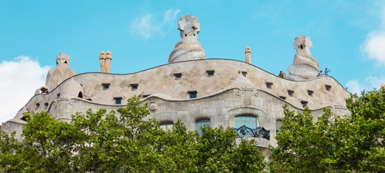 Photo of Gaudi architecture.