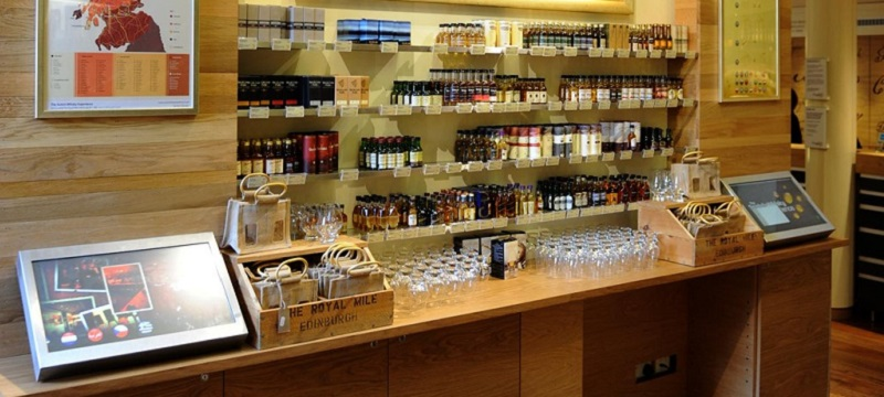 Photo of The Scotch Whisky Experience shop.