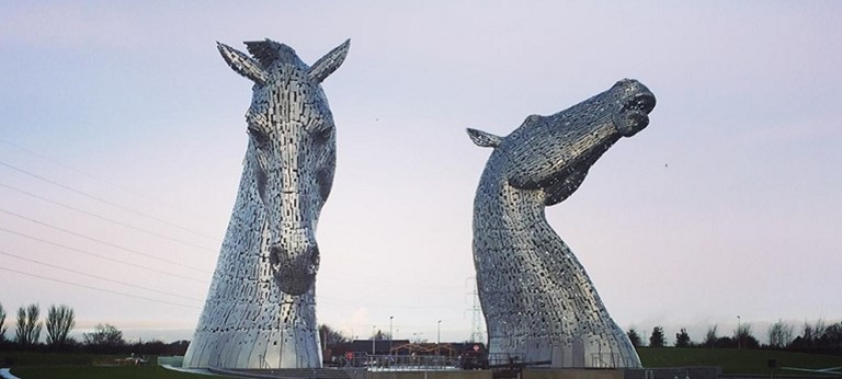 A photo of the Kelpies