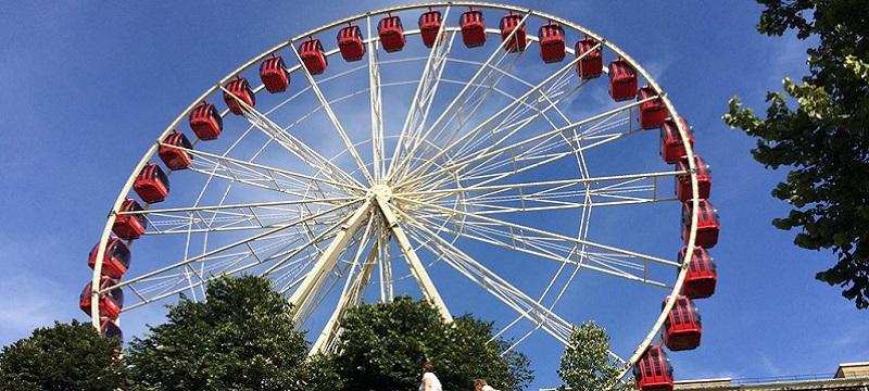 Photo of a ferris wheel in Princes Street Gardens.