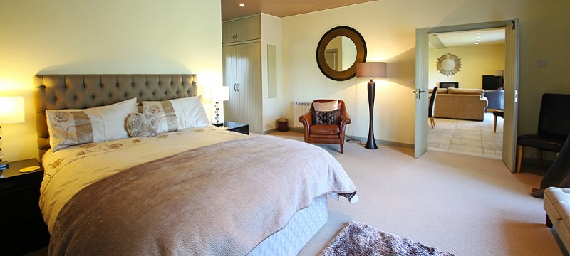 Photo of the bedroom in Damson Tree Cottage.