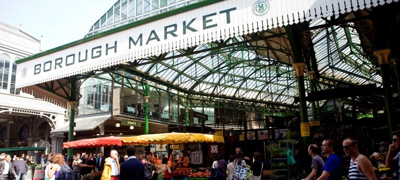 Photo of London Borough Market.