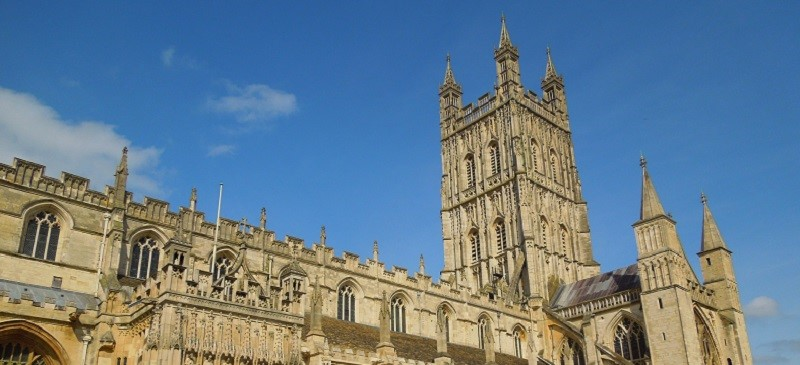 Picture of Gloucester Cathedral.