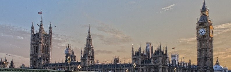 View of Big Ben and the House of Parliament.