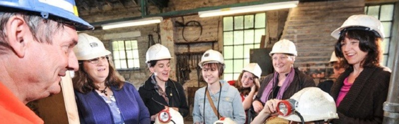 Photo of visitors to the National Coal Mining Museum for England.
