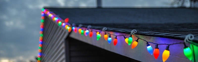 Photo of Christmas lights.