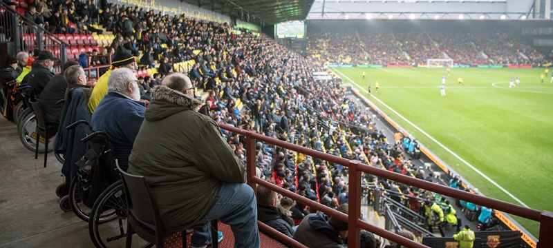 Photo of fans at Vicarage Road.