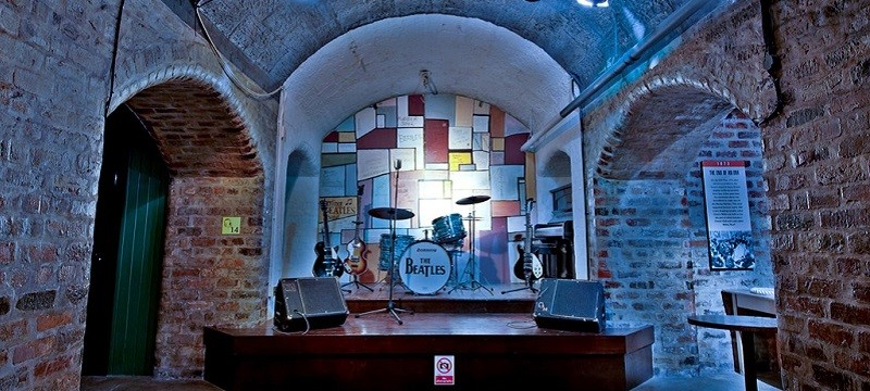 Photo of a stage at The Beatles Story.