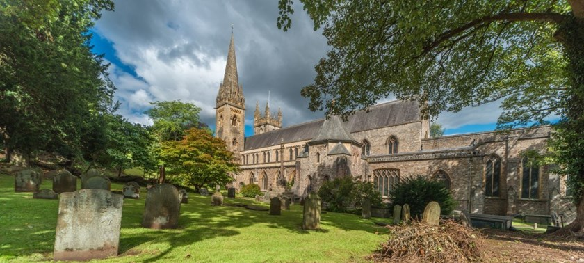 Photo of Llandaff Cathedral.
