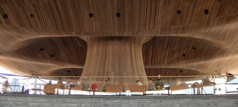 Photo of the Senedd Interior.