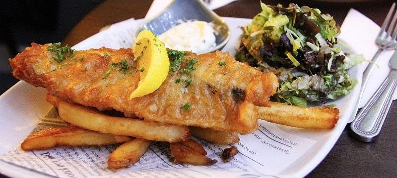 Photo of fish n chips.