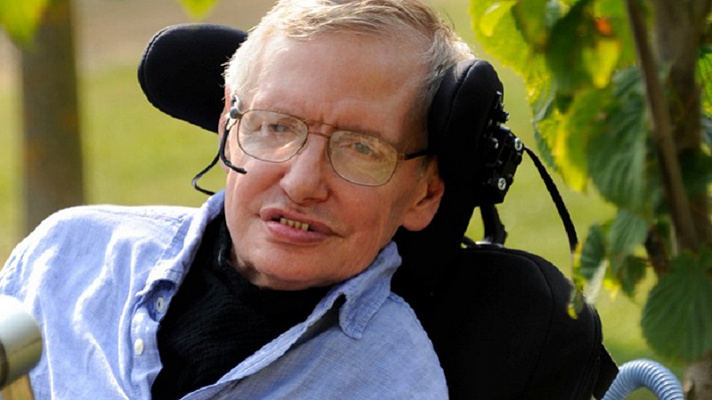 Photo of Professor Stephen Hawking.