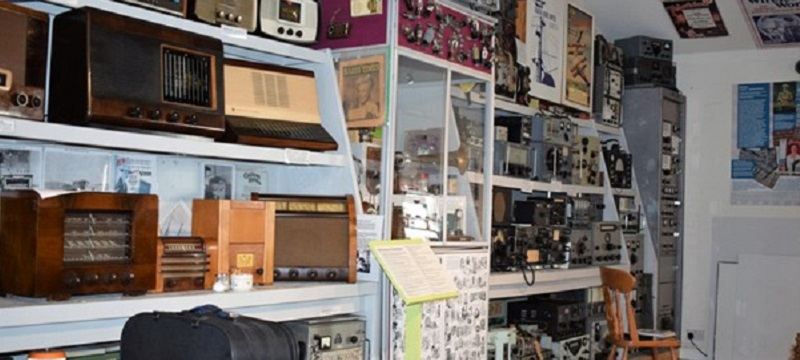 Photo of radios at Hoswick Visitor Centre.