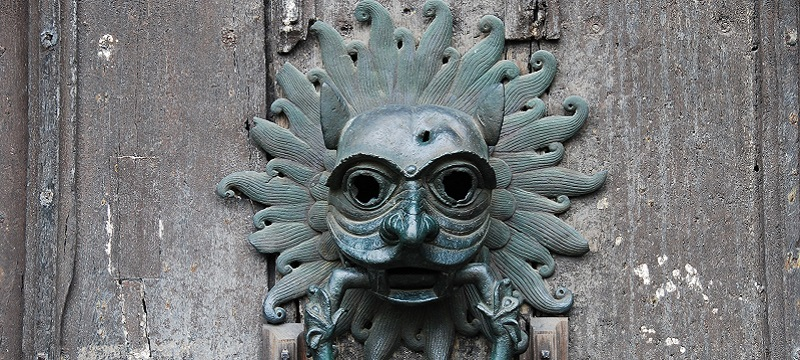 Photo of a door knocker at Durham Cathedral.