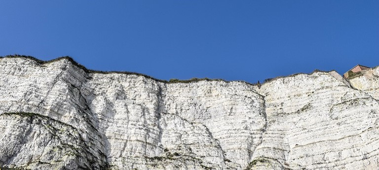 Photo of the White Cliffs of Dover.