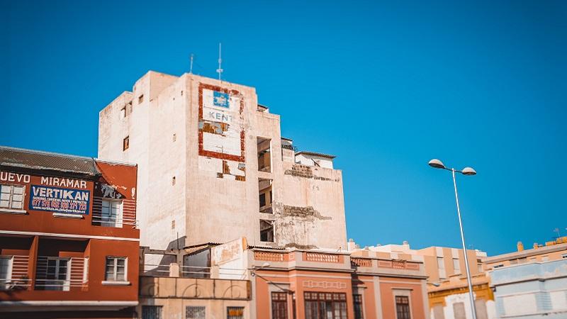 Photo of buildings in Las Palmas.