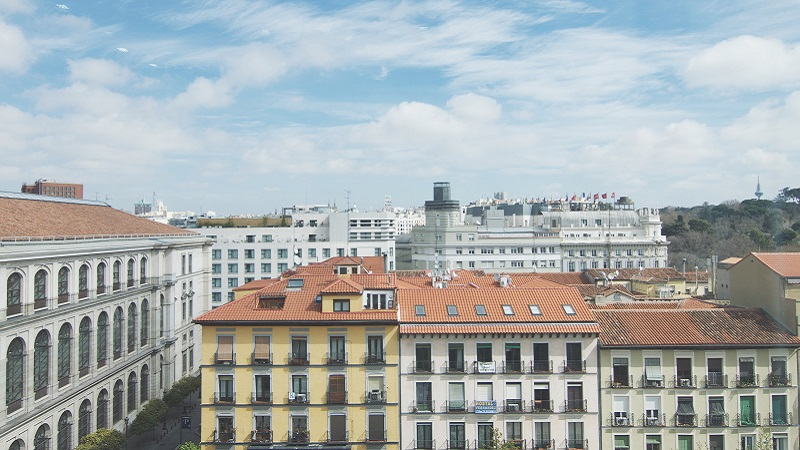 Photo of Madrid rooftops.