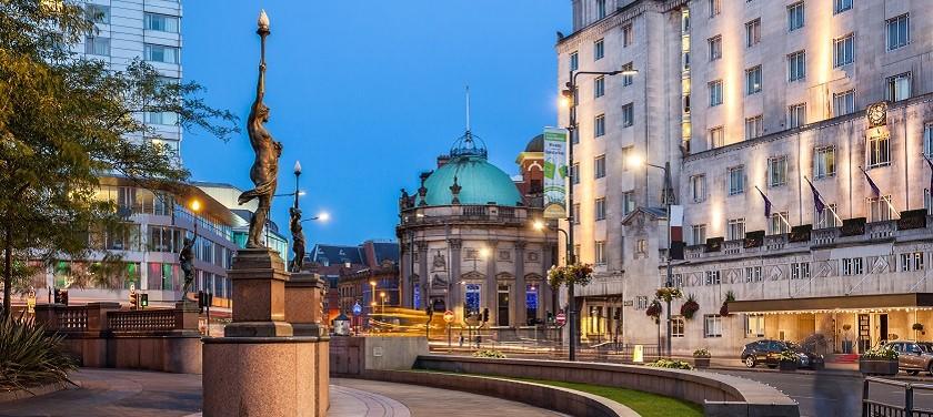 Photo of Leeds city centre.