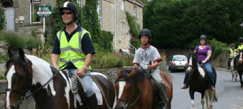 Photo of horse riding at Wellow Trekking Centre.