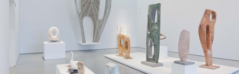 Photo of sculptures at The Hepworth Wakefield.