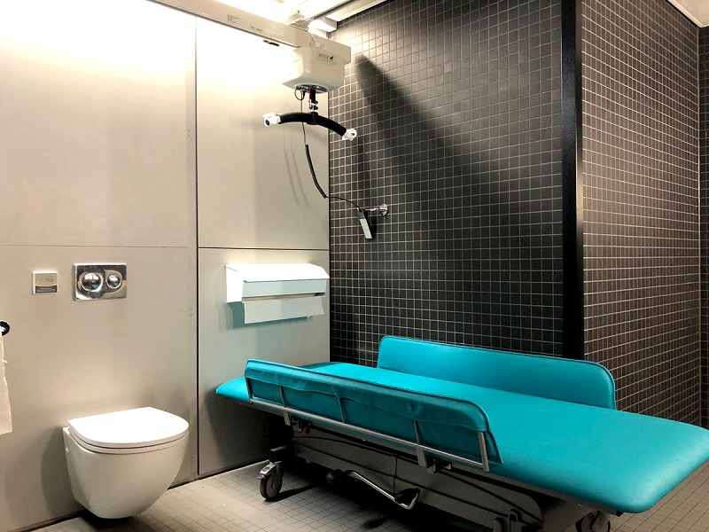 Photo of the new Changing Places facility at The Hepworth Wakefield.