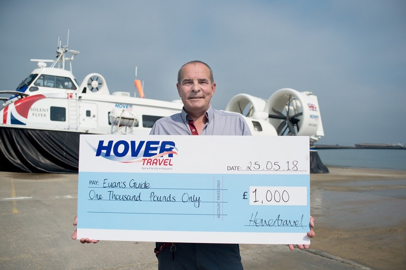 Photo of the Hovertravel cheque.