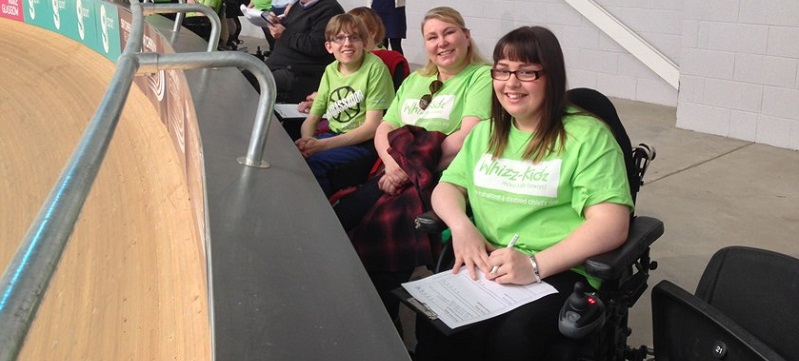 Photo of Whizz-Kidz at the Velodrome.
