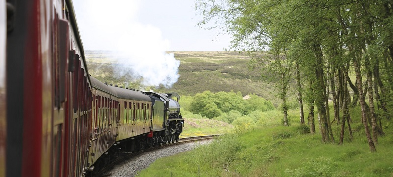 Photo of North Yorkshire Moors Railway Steam Engine.