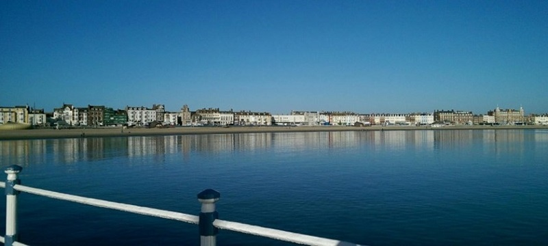 Photo of views from Weymouth Beach.