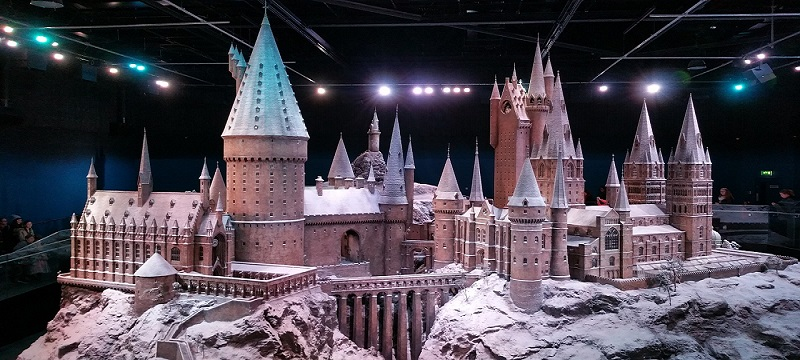 Photo of Hogwarts castle at the studio tour.