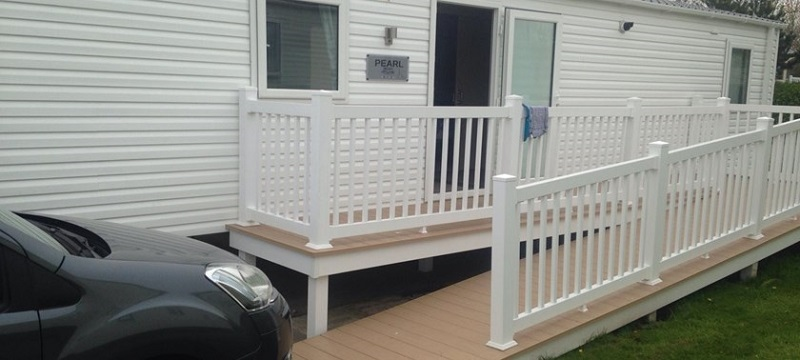 Photo of the caravan entrance at Hafan y Môr Holiday Park.