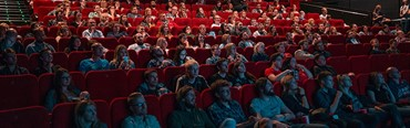 Photo of a cinema audience.