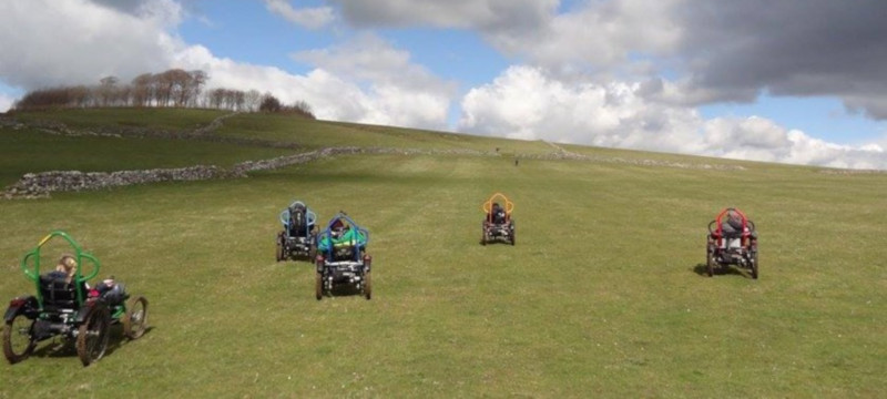 Photo of off-road mobility chairs at Hoe Grange Holidays.