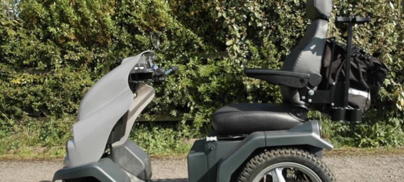 Photo of a tramper off-road power chair at Shipley Park.