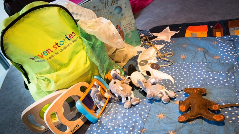 Photo of the Seven Stories sensory backpack.