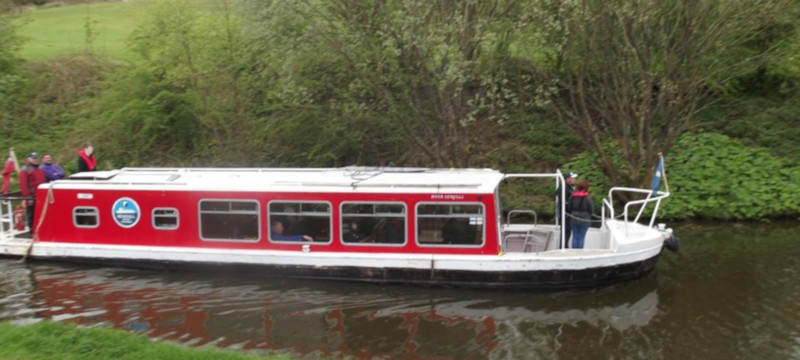 Photo of a Seagull Trust canal barge.