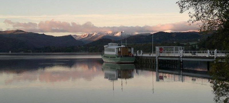 Photo of a steamer on Ullswater, Cumbria.