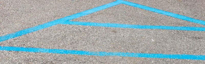 Photo of lines painted on the ground.