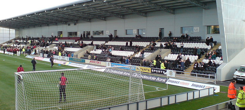 Photo of St Mirren Park stadium.