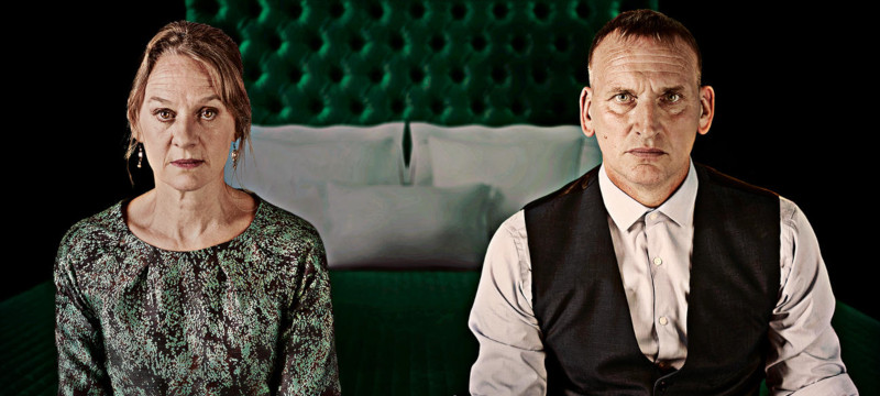 Photo of Christopher Eccleston and Niamh Cusack.