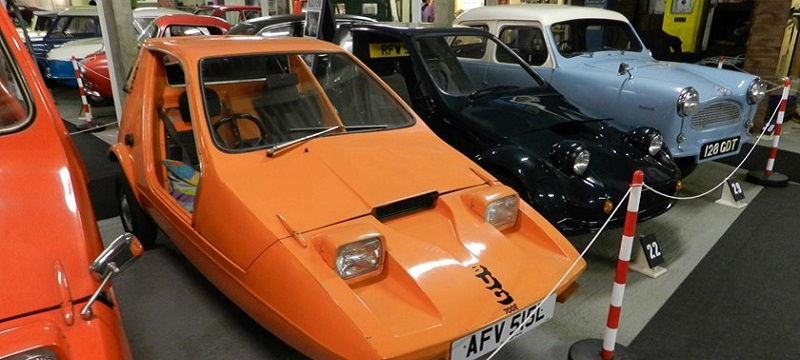 Photo of cars in the Bubblecar Museum.