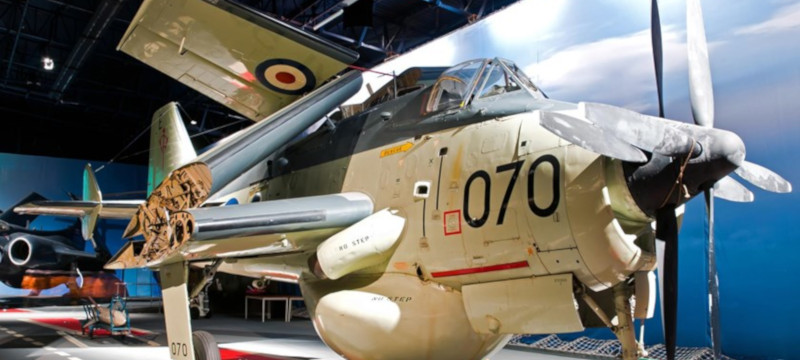 Photo of a Fairey Gannet at the FAA Museum, Yeovilton.