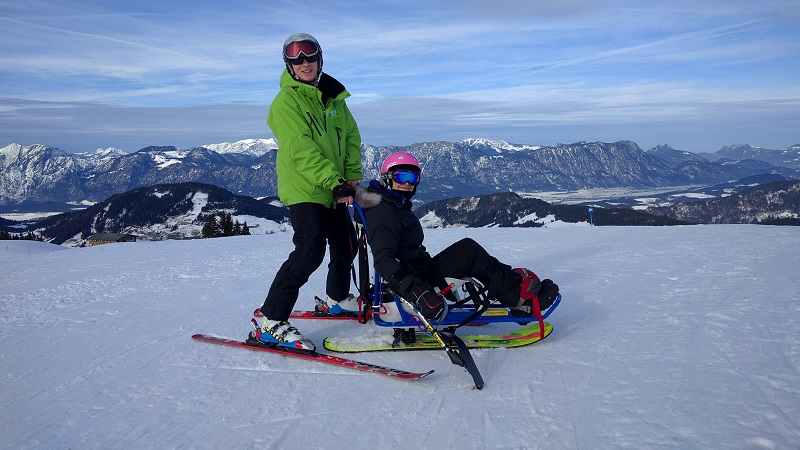 Photo of a sit-skier.